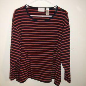 Plus size Liz Claiborne woman striped top